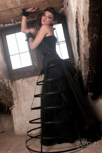 Dark bridal couture